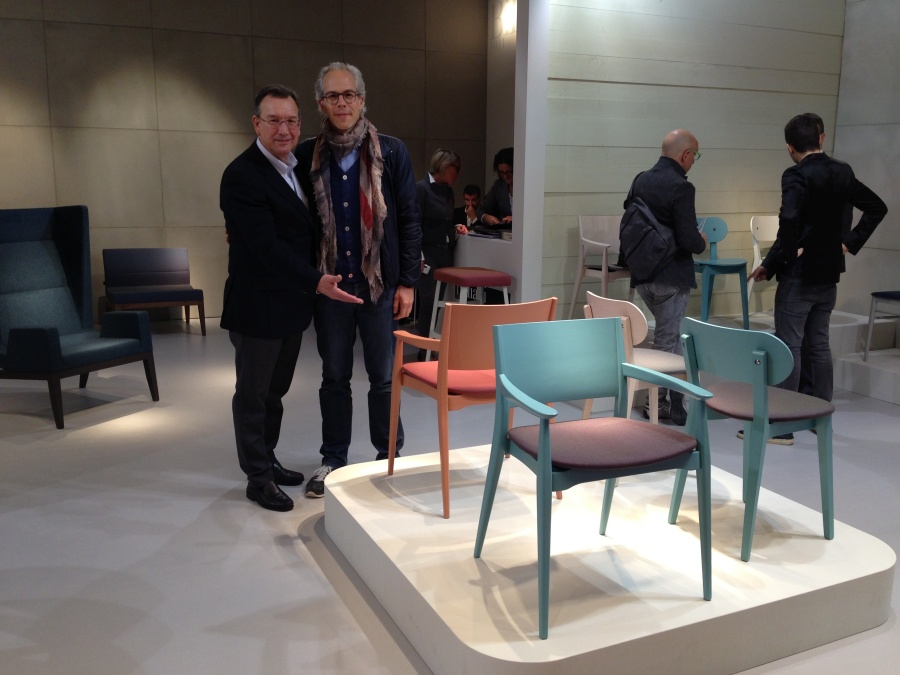 Michael with Luigi Billiani presenting his new collection