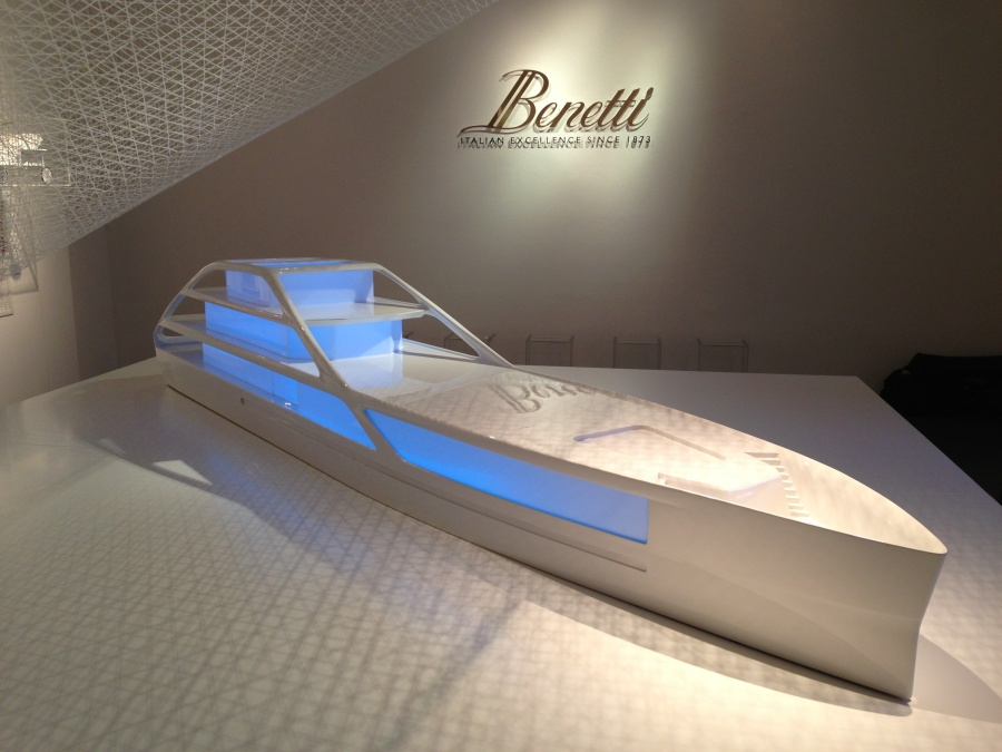 Benetti presents new yacht Jolly Roger designed by Palomba Serafini at Triennale